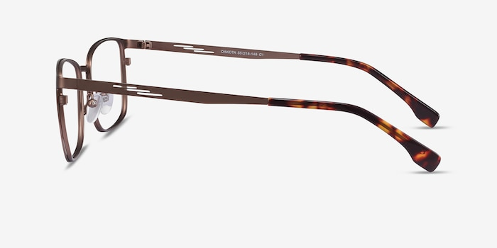 Dakota Brown Metal Eyeglass Frames from EyeBuyDirect, Side View