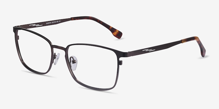Dakota Gunmetal Metal Eyeglass Frames from EyeBuyDirect, Angle View