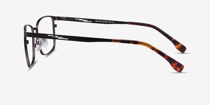 Dakota Gunmetal Metal Eyeglass Frames from EyeBuyDirect, Side View