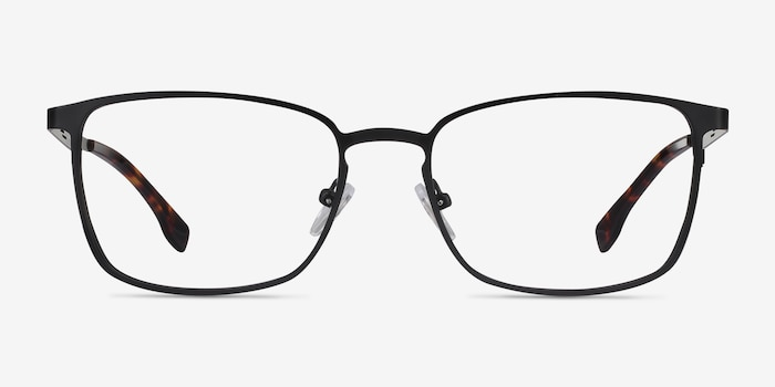 Dakota Black Metal Eyeglass Frames from EyeBuyDirect, Front View