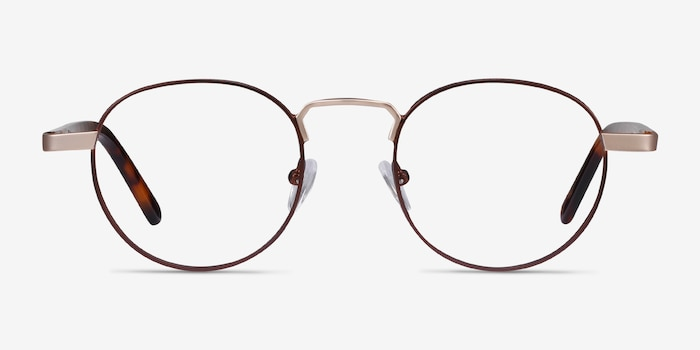 Orbit Brown Acetate-metal Eyeglass Frames from EyeBuyDirect, Front View