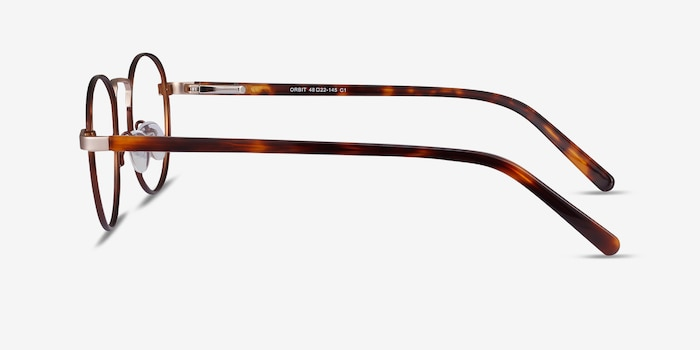 Orbit Brown Metal Eyeglass Frames from EyeBuyDirect, Side View