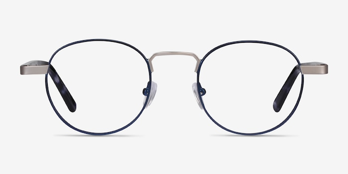 Orbit Blue Acetate-metal Eyeglass Frames from EyeBuyDirect, Front View
