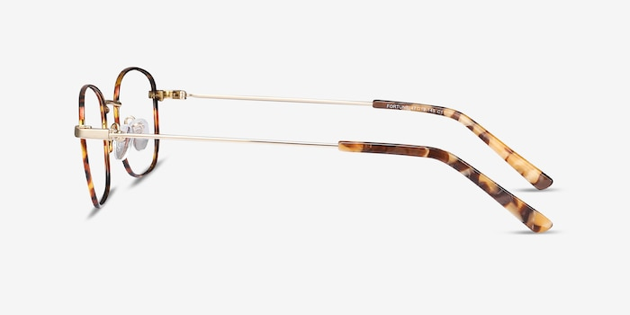 Fortune Tortoise Metal Eyeglass Frames from EyeBuyDirect, Side View