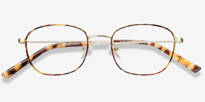 Fortune Tortoise Metal Eyeglass Frames from EyeBuyDirect, Closed View