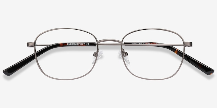 Fortune Gunmetal Metal Eyeglass Frames from EyeBuyDirect, Closed View