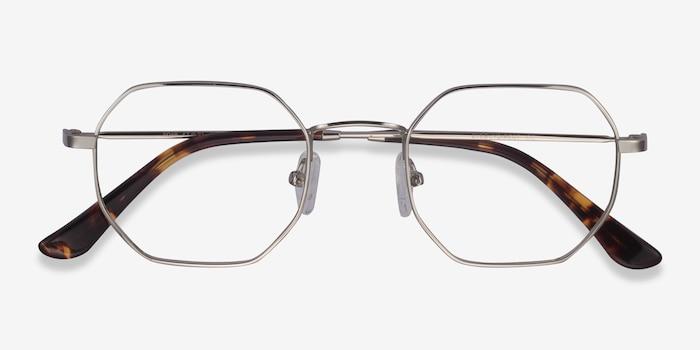 Soar Argenté Métal Montures de Lunettes d'EyeBuyDirect, Vue Rapprochée