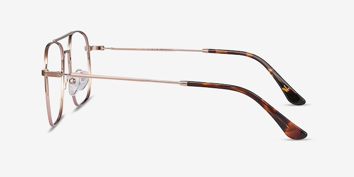 Fame Rose Gold Metal Eyeglass Frames from EyeBuyDirect, Side View