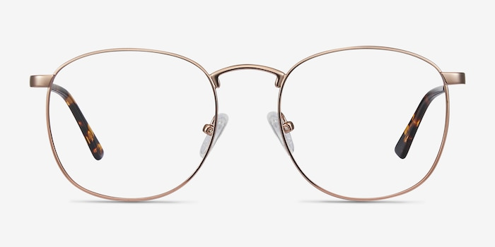 St Michel Rose Gold Metal Eyeglass Frames from EyeBuyDirect, Front View