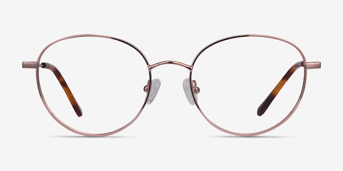 Twirl Rose Gold Metal Eyeglass Frames from EyeBuyDirect, Front View