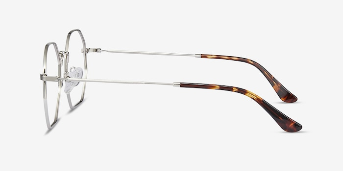 Octave Silver Metal Eyeglass Frames from EyeBuyDirect, Side View