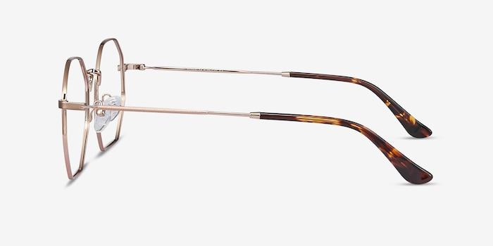 Octave Rose Gold Metal Eyeglass Frames from EyeBuyDirect, Side View