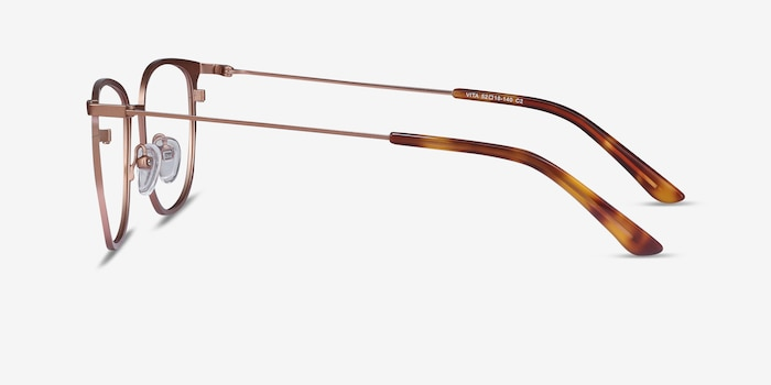Vita Rose Gold Metal Eyeglass Frames from EyeBuyDirect, Side View