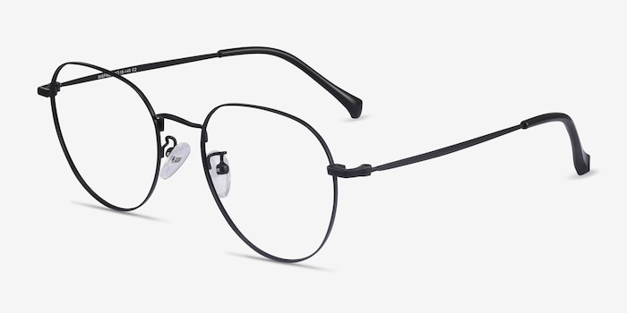 Inspire Black Metal Eyeglass Frames from EyeBuyDirect, Angle View