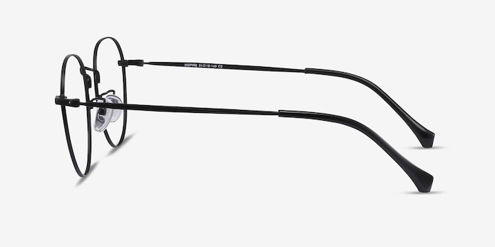 Inspire Black Metal Eyeglass Frames from EyeBuyDirect, Side View