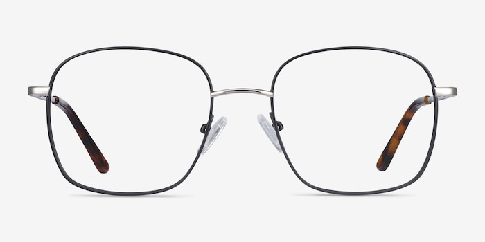 Archive Black Metal Eyeglass Frames from EyeBuyDirect, Front View