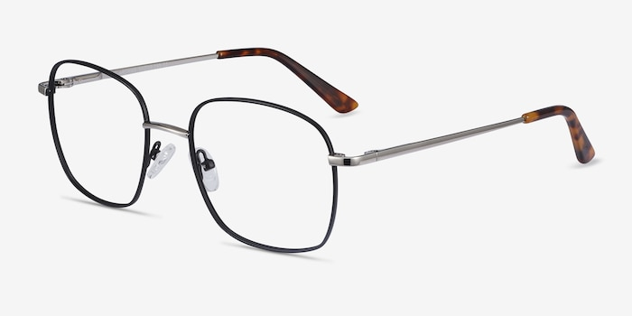 Archive Black Metal Eyeglass Frames from EyeBuyDirect, Angle View