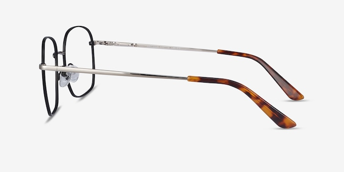 Archive Black Metal Eyeglass Frames from EyeBuyDirect, Side View
