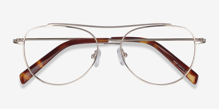 Max Gold Metal Eyeglass Frames from EyeBuyDirect, Closed View