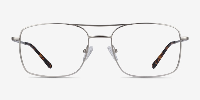 Daymo Silver Metal Eyeglass Frames from EyeBuyDirect, Front View