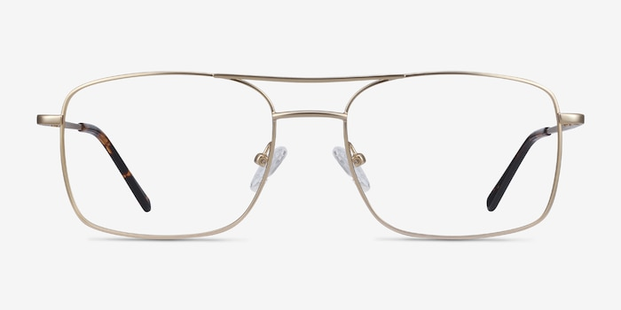 Daymo Gold Metal Eyeglass Frames from EyeBuyDirect, Front View