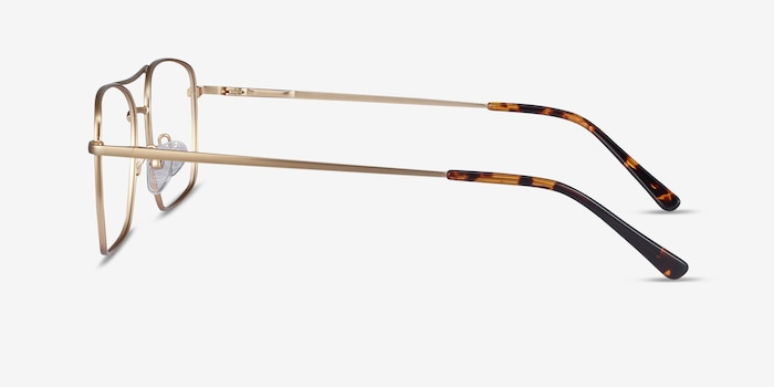 Daymo Gold Metal Eyeglass Frames from EyeBuyDirect, Side View