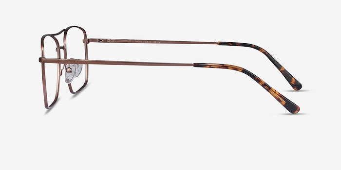 Daymo Brown Metal Eyeglass Frames from EyeBuyDirect, Side View