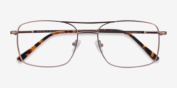 Daymo Brown Metal Eyeglass Frames from EyeBuyDirect, Closed View