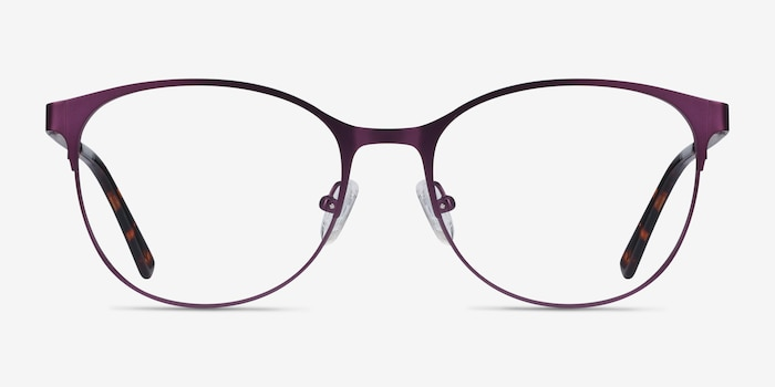 Kali Purple Metal Eyeglass Frames from EyeBuyDirect, Front View