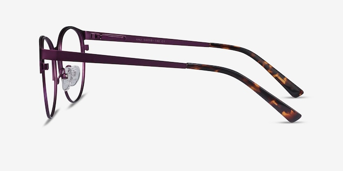 Kali Purple Metal Eyeglass Frames from EyeBuyDirect, Side View