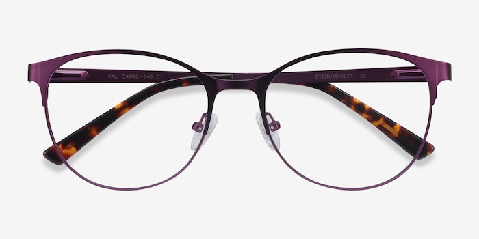 Kali Purple Metal Eyeglass Frames from EyeBuyDirect, Closed View