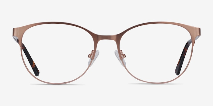 Kali Rose Gold Metal Eyeglass Frames from EyeBuyDirect, Front View