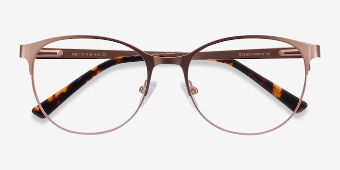 Kali Rose Gold Metal Eyeglass Frames from EyeBuyDirect, Closed View