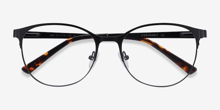 Kali Black Metal Eyeglass Frames from EyeBuyDirect, Closed View