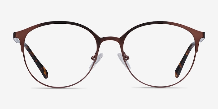 Emma Brown Metal Eyeglass Frames from EyeBuyDirect, Front View