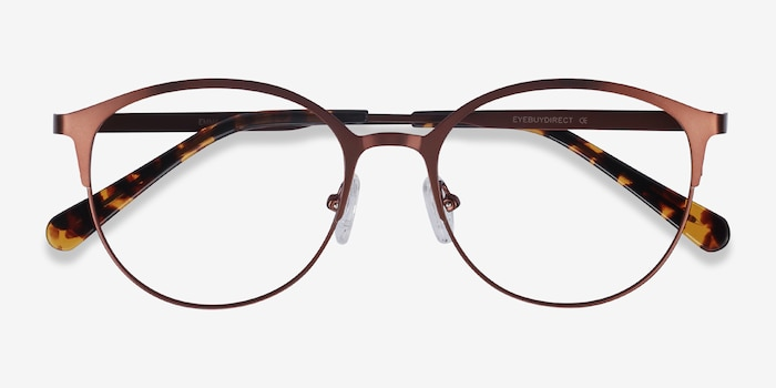 Emma Brown Metal Eyeglass Frames from EyeBuyDirect, Closed View
