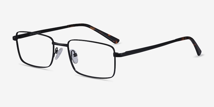 Arco Black Metal Eyeglass Frames from EyeBuyDirect, Angle View
