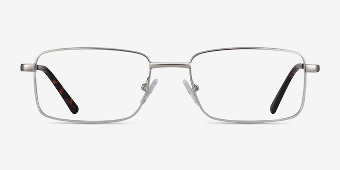 Arco Silver Metal Eyeglass Frames from EyeBuyDirect, Front View