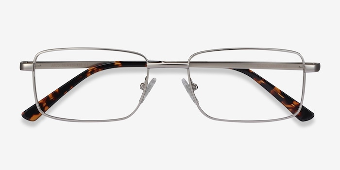 Arco Silver Metal Eyeglass Frames from EyeBuyDirect, Closed View