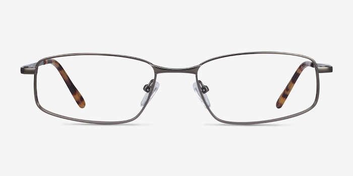 Destined Gunmetal Metal Eyeglass Frames from EyeBuyDirect, Front View