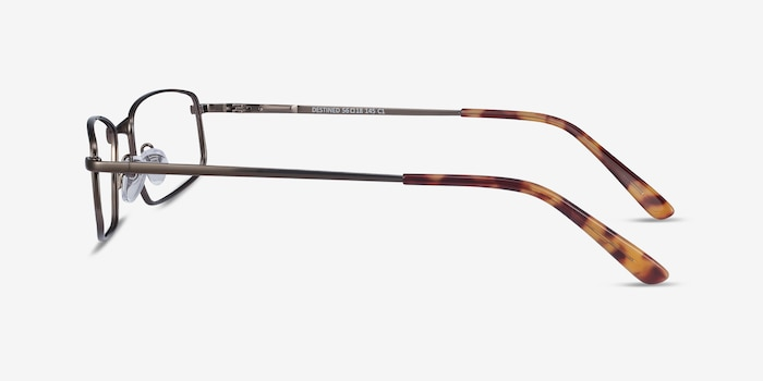 Destined Gunmetal Metal Eyeglass Frames from EyeBuyDirect, Side View