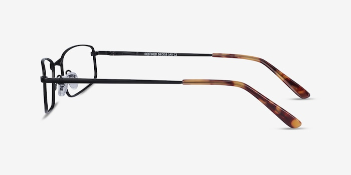 Destined Black Metal Eyeglass Frames from EyeBuyDirect, Side View