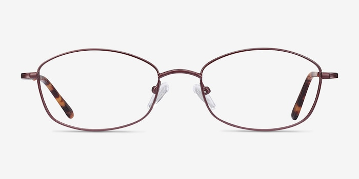Betty Brown Metal Eyeglass Frames from EyeBuyDirect, Front View
