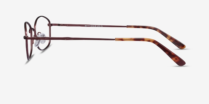 Betty Brown Metal Eyeglass Frames from EyeBuyDirect, Side View