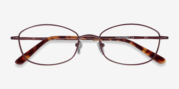 Betty Brown Metal Eyeglass Frames from EyeBuyDirect, Closed View