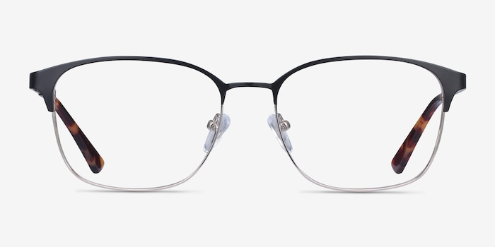Chambery Black Metal Eyeglass Frames from EyeBuyDirect, Front View