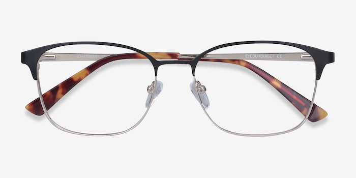 Chambery Black Metal Eyeglass Frames from EyeBuyDirect, Closed View