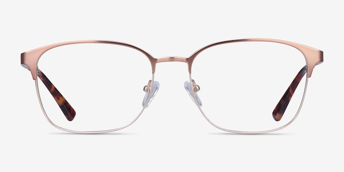 Chambery Rose Gold Metal Eyeglass Frames from EyeBuyDirect, Front View
