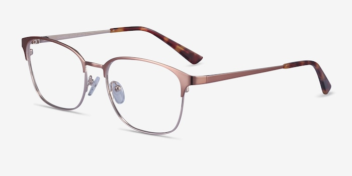 Chambery Rose Gold Metal Eyeglass Frames from EyeBuyDirect, Angle View