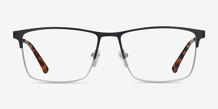 Edito Black Metal Eyeglass Frames from EyeBuyDirect, Front View
